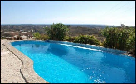 swimming pool with a view of the Eastern Algarve